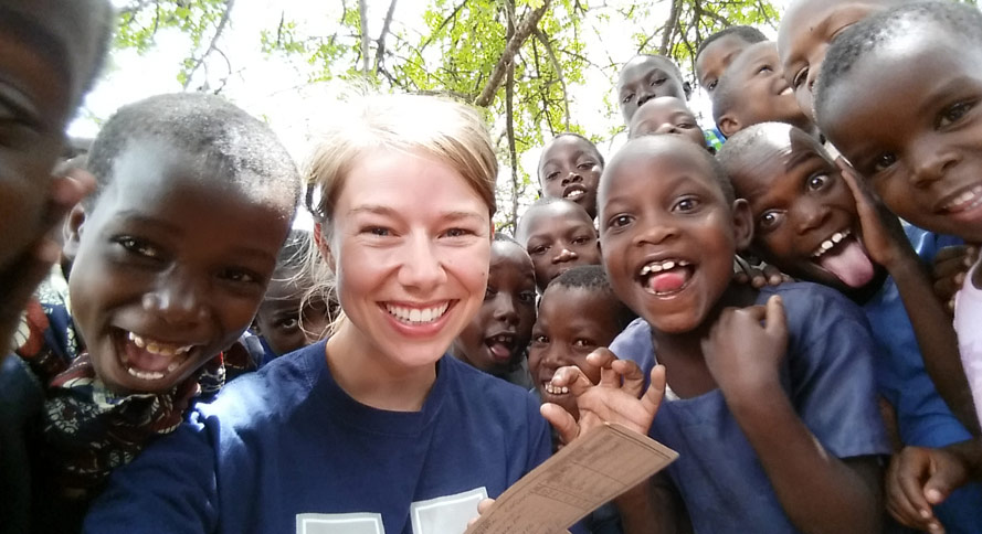 Cassie Eakins ('16 DVM) spent five weeks in Tanzania during the fall of 2015
